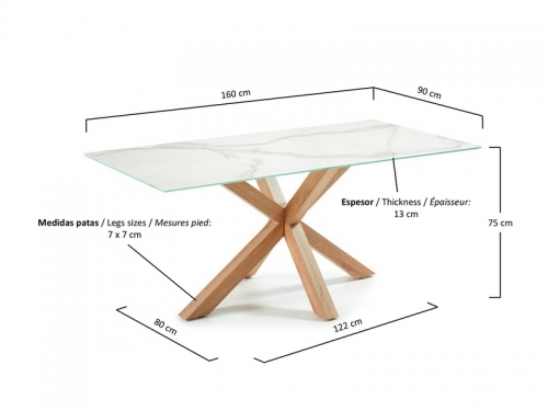 La Forma ARYA dining table - natural leg
