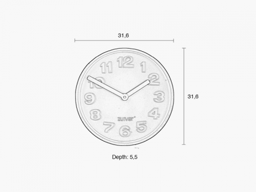 Zuiver CONCRETE wall clock