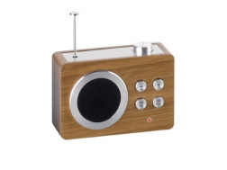 Lexon MINI DOMEN radio bamboo