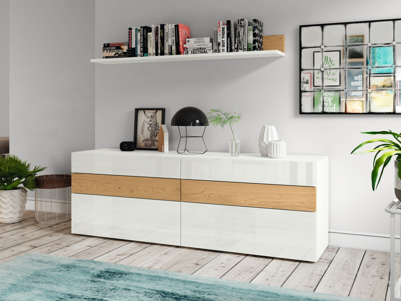Hülsta Now Vision Sideboard With Wall Shelf Innoshop