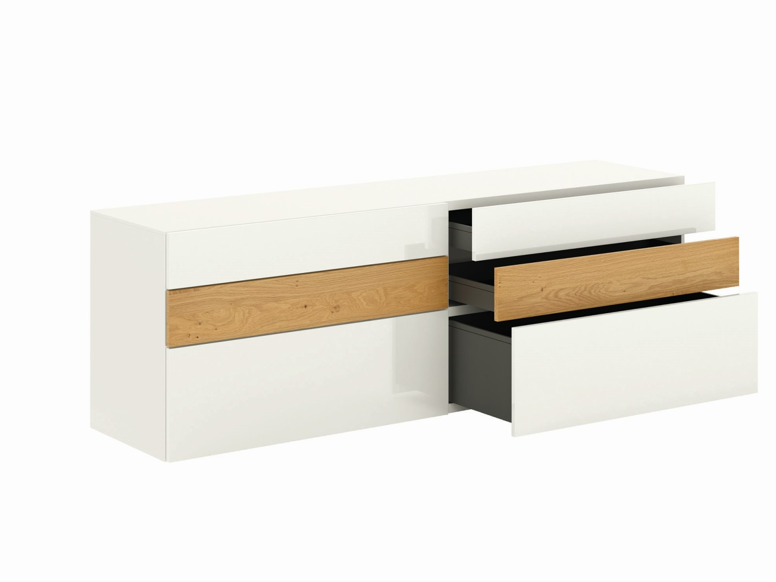 h lsta now vision sideboard with wall shelf innoshop. Black Bedroom Furniture Sets. Home Design Ideas