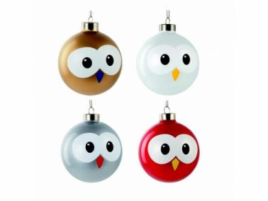 E-my PALLY Christmas balls, set of 4