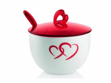 Guzzini LOVE Sugarpot with teaspoon