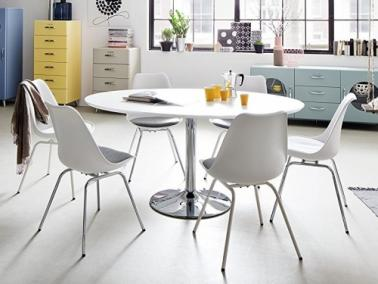 Tenzo TEQUILA dining table with white leg