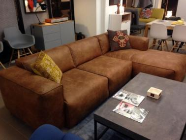Theca FRESNO showroom couch - vintage leather tex