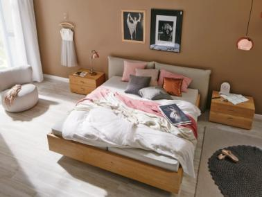 Hülsta Now! no.14 bed with upholstered headboard