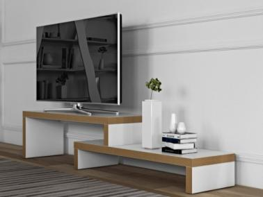 Temahome CLIFF 120 TV fehér/furnér
