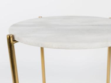 Dutchbone TIMPA marble table