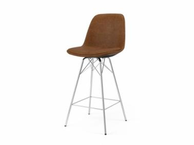 Tenzo GRACE PORGY leather textile bar chair