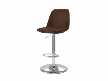 Tenzo GRACE TRUMPET leather textile bar chair