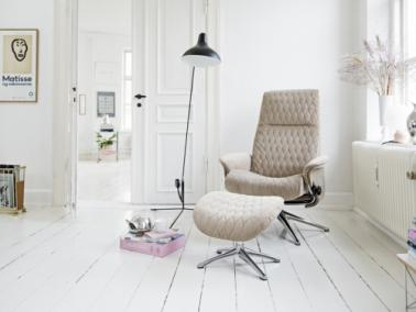 Theca Flexlux DROPS chair with upholstered shell