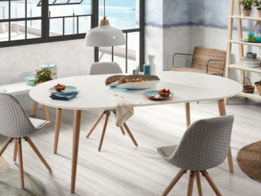 La Forma OAKLAND extendable round table