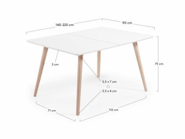 La Forma QUATRE extendable table