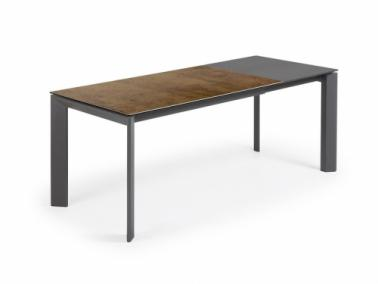 La Forma ATTA extendable dining table - graphite leg
