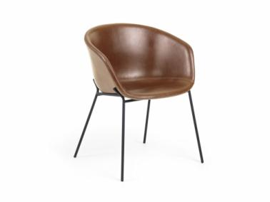 La Forma ZADINE textile leather chair