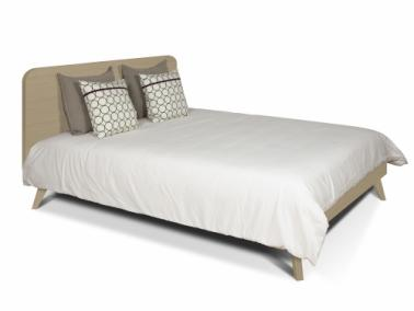 Temahome MARA 160 bed with rounded headboard and wooden legs