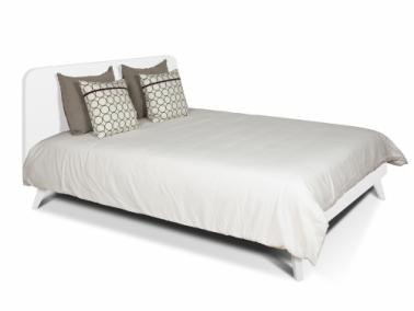 Temahome MARA 180 bed with rounded headboard and wooden legs