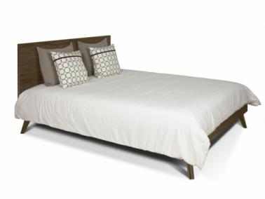 Temahome MARA 180 bed with rectangular headboard and wooden legs