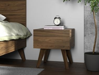 Temahome MARA bedside table with wooden legs