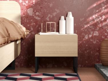 Temahome MARA bedside table with metallic feet