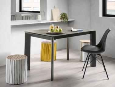 La Forma ATTA 120 extendable dining table | graphite leg