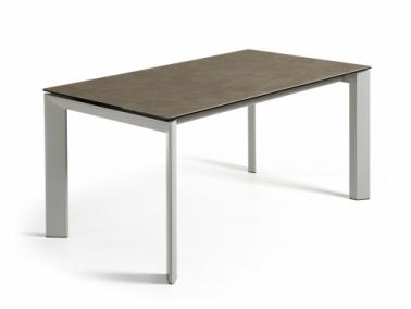 La Forma ATTA 160 extendable dining table | grey leg