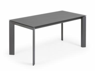 La Forma ATTA 160 extendable dining table | graphite leg